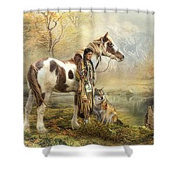 Indian Autumn Shower Curtain by Trudi Simmonds