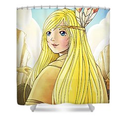 Indian Princess Tammy Shower Curtain