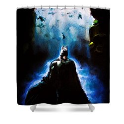 Into The Cave Shower Curtain by Darryl Matthews