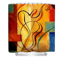 Jazz Fusion Shower Curtain by Leon Zernitsky