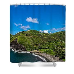 Kahakuloa Head Maui Hawaii Shower Curtain