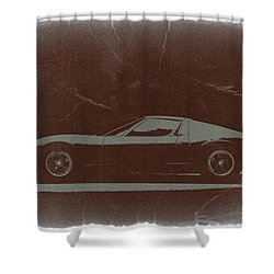 Lamborghini Miura Shower Curtain by Naxart Studio