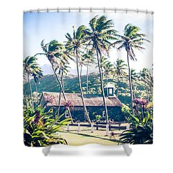 Shower Curtain featuring the photograph  Lanakila 'ihi'ihi O Iehowa O Na Kaua Church Keanae Maui Hawaii by Sharon Mau