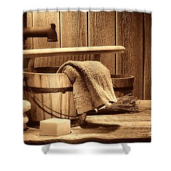 Laundry At The Ranch Shower Curtain by American West Legend By Olivier Le Queinec