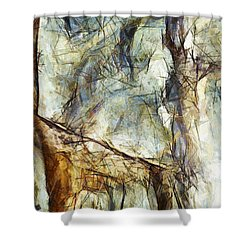 Shower Curtain featuring the painting  Le Sens Des Sentiments by Sir Josef - Social Critic - ART