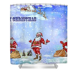 Merry Christmas To My Friends In The Faa Shower Curtain
