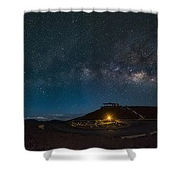 Milky Way Over Haleakala Shower Curtain