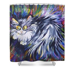Shower Curtain featuring the painting  Mrs.curiosity  by Anna  Duyunova