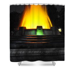 Mulholland Fountain Reflection Shower Curtain