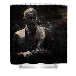 Music Instrument Trumpet Sax Trombon 1 Shower Curtain