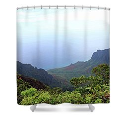 Napali Coast Overlook Shower Curtain