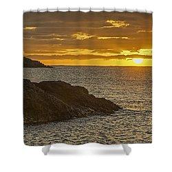 Ninini Point Lighthouse Sunrise Shower Curtain