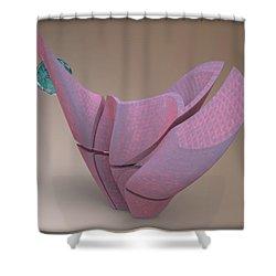 ' Offset Wavy Ripple Vessel ' Shower Curtain
