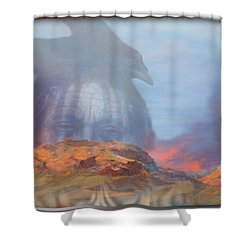 ' Old Fire Eyes Returns ' Shower Curtain