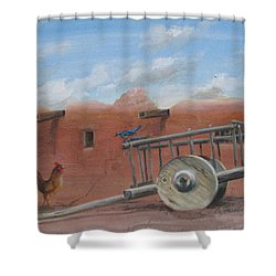 Old Spanish Cart  Shower Curtain