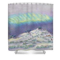 Peaceful Snowy Sunrise Shower Curtain