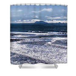 Shower Curtain featuring the photograph  Point Loma And Islos Los Coronados by Daniel Hebard