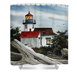 Point Robinson Lighthouse And Mt. Rainier Shower Curtain