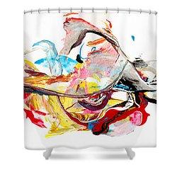 Princess  - Abstract Colorful Mixed Media Painting Shower Curtain