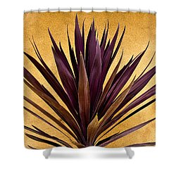 Purple Giant Dracaena Santa Fe Shower Curtain