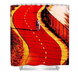 Shower Curtain featuring the photograph  Red Path  by John King