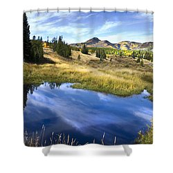 Shower Curtain featuring the photograph  Road To Steamboat Lake by John Hix