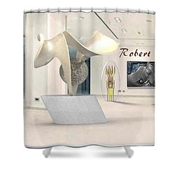 ' Robert Palmer At Large ' Shower Curtain