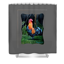 Rooster Crow A Welsummer Rooster  Shower Curtain