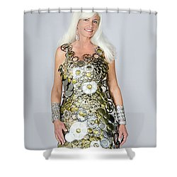 Sara In Clockwork Dragon Dress  Shower Curtain