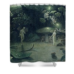 Scene From 'a Midsummer Night's Dream Shower Curtain by Francis Danby