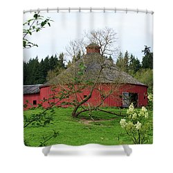 Spring At The Round Barn Shower Curtain