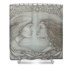 Spring Lovers With Snowdrops Shower Curtain by Rita Fetisov