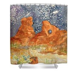 Starry Night In The Desert Shower Curtain