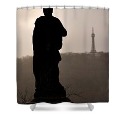 Statue And Petrin Tower Shower Curtain