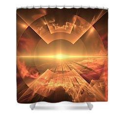 Supernova  Shower Curtain by Svetlana Nikolova