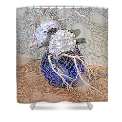 Surrealistic Blue  Shower Curtain