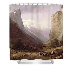 Swiss Scene Shower Curtain by Samuel Jackson
