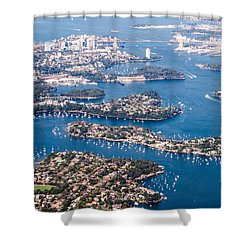 Sydney Vibes Shower Curtain by Parker Cunningham