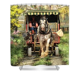 Take Me Home Country Road Shower Curtain