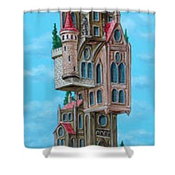 The Castle Of Air Shower Curtain