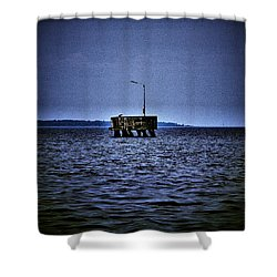 Shower Curtain featuring the photograph  The Dock Of Loneliness by Jouko Lehto
