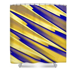 Shower Curtain featuring the digital art  The Enemies  by Dragica  Micki Fortuna