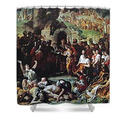 Shower Curtain featuring the painting  The Marriage Of Strongbow And Aoife by Daniel Maclise