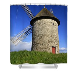 The Old Mill Shower Curtain by Martina Fagan