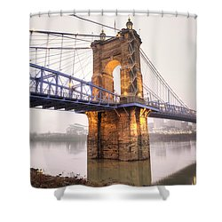 The Roebling Bridge Shower Curtain