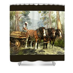 The Timber Team Shower Curtain