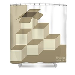 There Is Another Box Outside Of The Box Shower Curtain