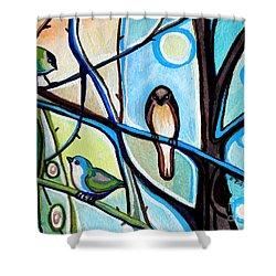 Three Birds Shower Curtain