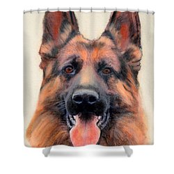 Tribute To The German Shepherd Shower Curtain by Linda Diane Taylor