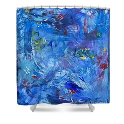Turbulent Waters Shower Curtain